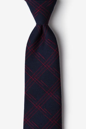 Escondido Navy Blue Extra Long Tie