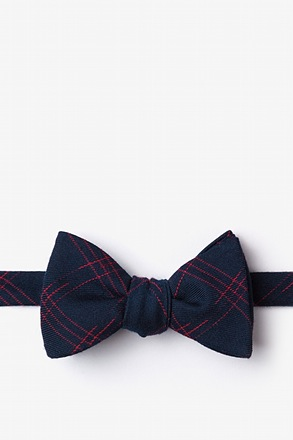_Escondido Navy Blue Self-Tie Bow Tie_