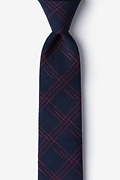 Navy Blue Cotton Escondido Skinny Tie