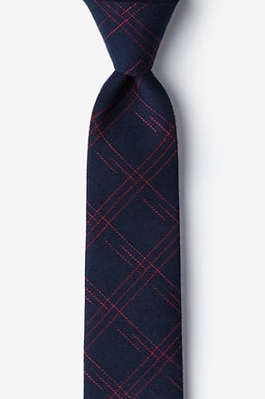 _Escondido Navy Blue Skinny Tie_