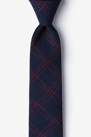 Escondido Navy Blue Skinny Tie