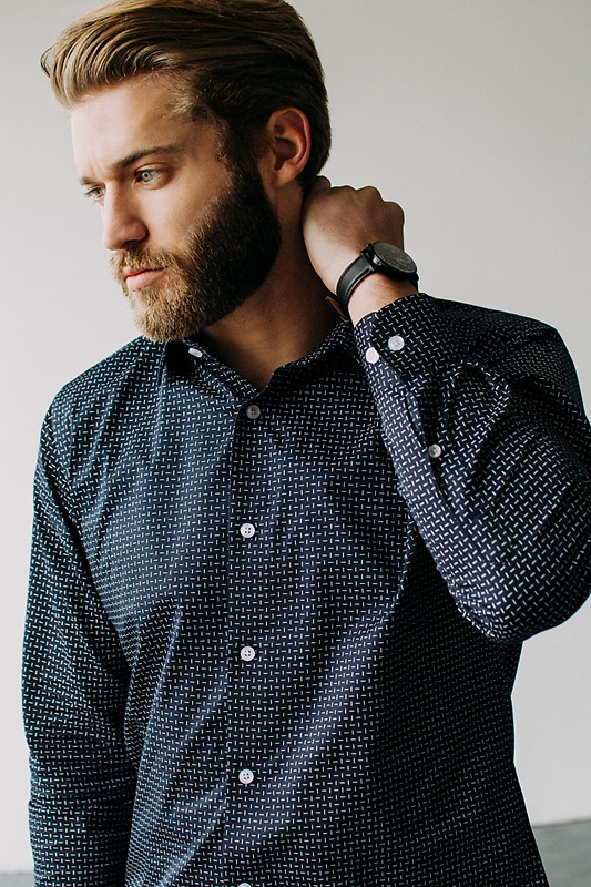 Finn Classic Fit Untuckable Dress Shirt