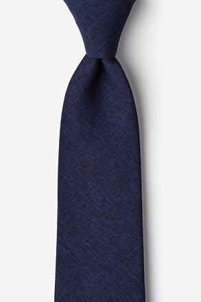 _Galveston Navy Blue Tie_