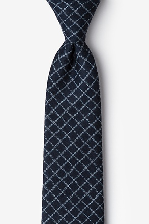 Glendale Navy Blue Extra Long Tie