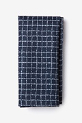 Navy Blue Cotton Glendale Pocket Square