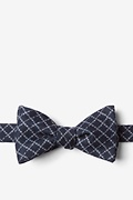 Navy Blue Cotton Glendale Self-Tie Bow Tie