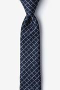 Navy Blue Cotton Glendale Skinny Tie