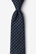 Navy Blue Cotton Glendale Tie