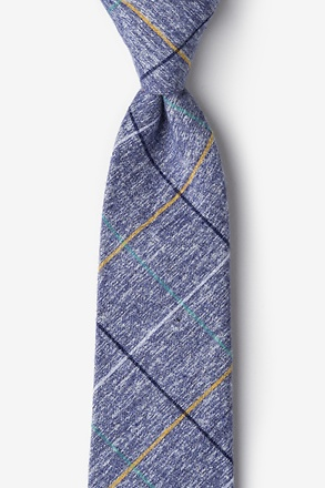 _Globe Navy Blue Extra Long Tie_