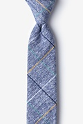 Navy Blue Cotton Globe Skinny Tie