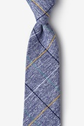 Navy Blue Cotton Globe Tie