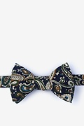 Navy Blue Cotton Grainger Self-Tie Bow Tie