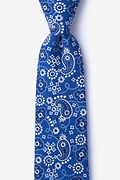 Navy Blue Cotton Grove Extra Long Tie