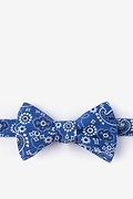 Grove Navy Blue Self-Tie Bow Tie Photo (0)