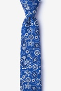 Navy Blue Cotton Grove Skinny Tie