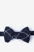 Navy Blue Cotton Harley Butterfly Bow Tie