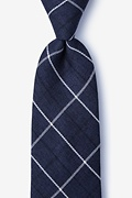 Navy Blue Cotton Harley Extra Long Tie