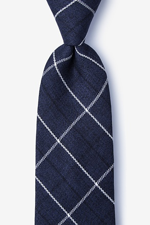 _Harley Navy Blue Extra Long Tie_