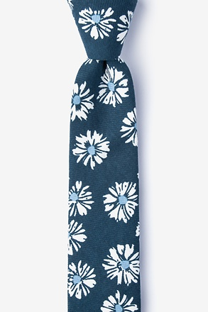 _Hinton Navy Blue Skinny Tie_