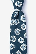 Navy Blue Cotton Hinton Tie
