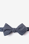Navy Blue Cotton Holbrook Diamond Tip Bow Tie