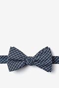 Navy Blue Cotton Holbrook Self-Tie Bow Tie