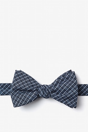 _Holbrook Navy Blue Self-Tie Bow Tie_