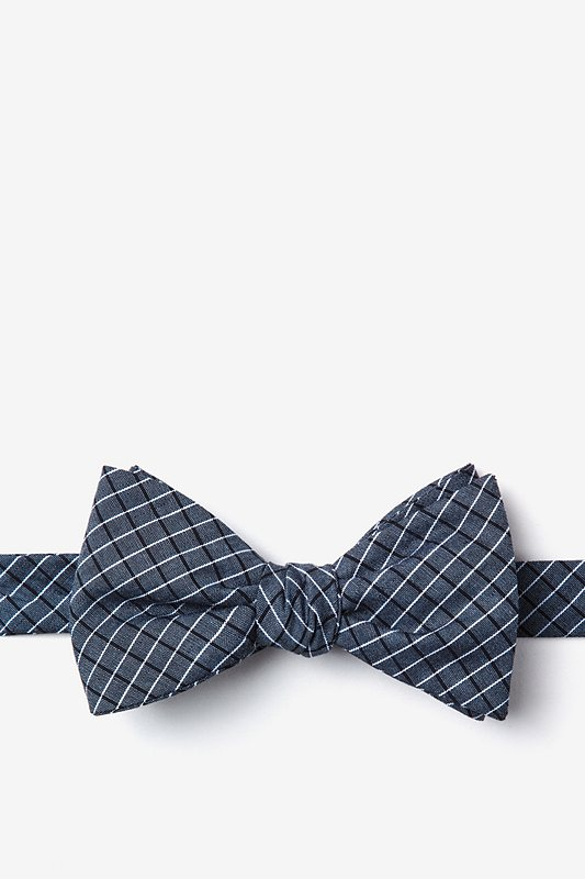 Holbrook Navy Blue Self-Tie Bow Tie Photo (0)