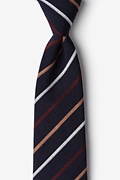 Navy Blue Cotton Houston Extra Long Tie