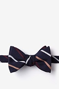 Navy Blue Cotton Houston Self-Tie Bow Tie