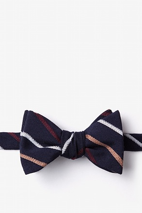 Houston Navy Blue Self-Tie Bow Tie