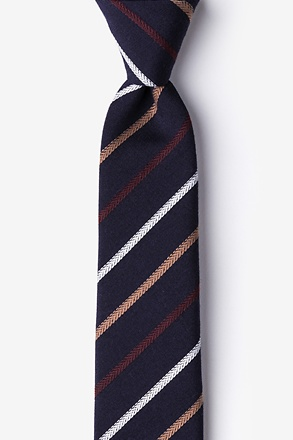 _Houston Navy Blue Skinny Tie_