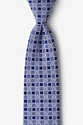 Navy Blue Cotton Jamaica Extra Long Tie
