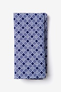 Navy Blue Cotton Jamaica Pocket Square