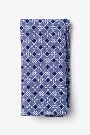 Jamaica Navy Blue Pocket Square