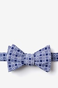 Navy Blue Cotton Jamaica Self-Tie Bow Tie