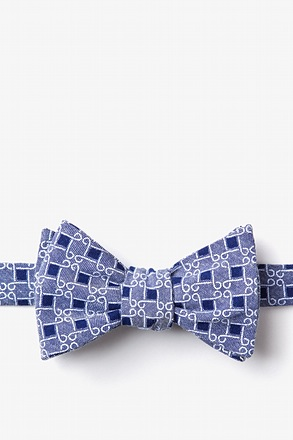 Jamaica Navy Blue Self-Tie Bow Tie