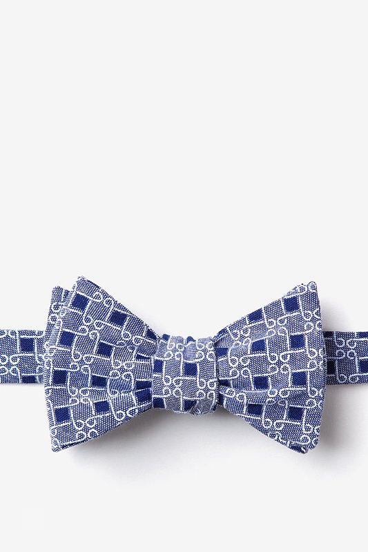 Jamaica Navy Blue Self-Tie Bow Tie Photo (0)