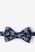 Navy Blue Cotton Jubilee Bow Tie