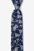 Navy Blue Cotton Jubilee Skinny Tie