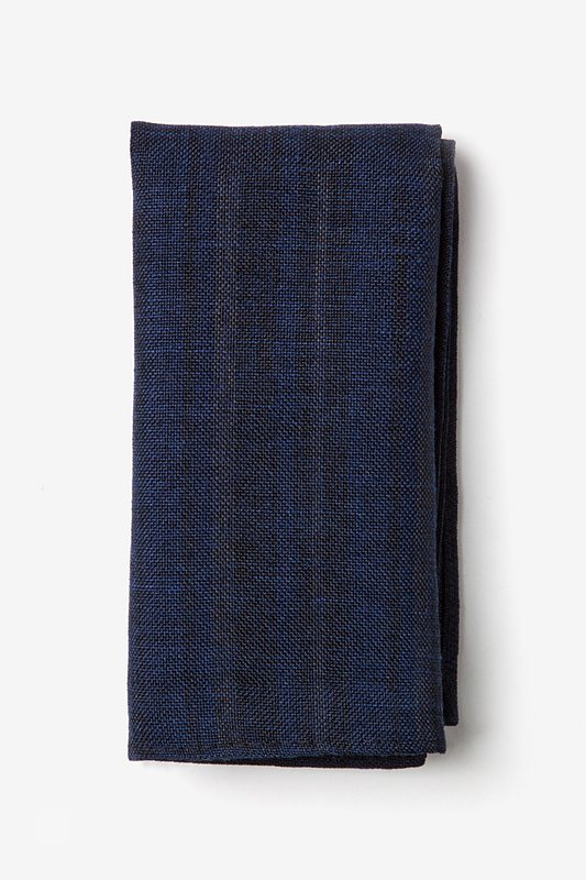 Katy Navy Blue Pocket Square Photo (0)