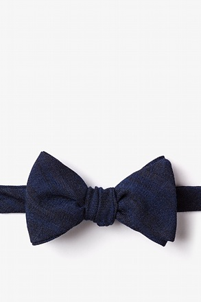 _Katy Navy Blue Self-Tie Bow Tie_