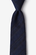 Navy Blue Cotton Katy Tie