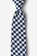 Navy Blue Cotton Kingman Extra Long Tie