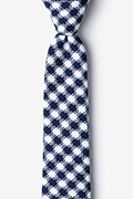 Navy Blue Cotton Kingman Skinny Tie