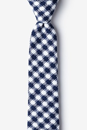 _Kingman Navy Blue Skinny Tie_