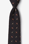 Navy Blue Cotton La Mesa Extra Long Tie