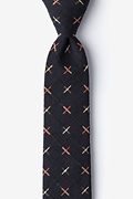 Navy Blue Cotton La Mesa Skinny Tie