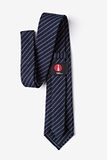 Lewisville Navy Blue Extra Long Tie Photo (2)