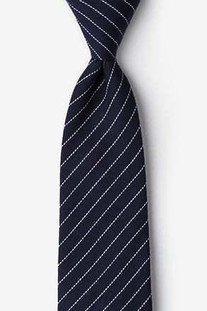 Lewisville Navy Blue Extra Long Tie